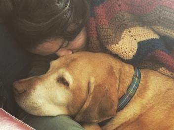 Cuddles with Mungo