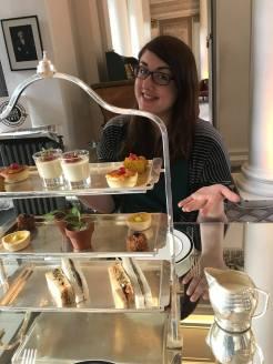 High Tea Savories at the Colonnades at Signet Library, Edinburgh, Scotland
