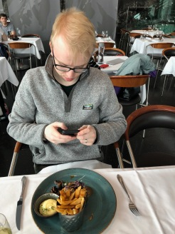 Mr. Millenial and Grilled Beef Tenderloin, LAVA Restaurant at the Blue Lagoon, Iceland