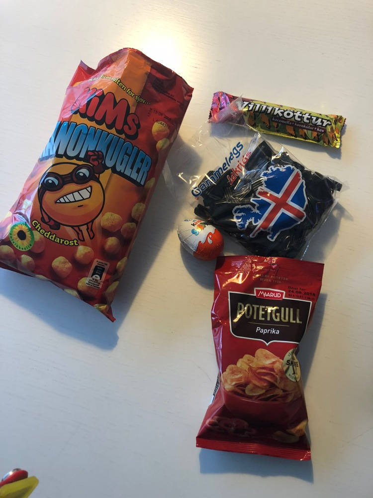 A plethora of Icelandic snacks