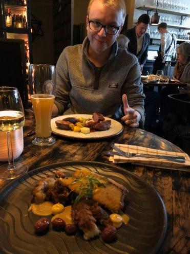Perch and Langoustines and Lamb Tenderloin from Kol, Rekjavik, Icleand