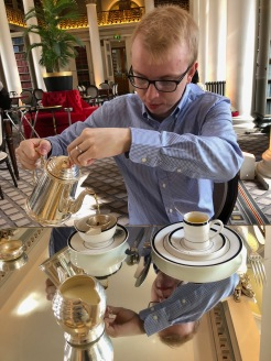 Master Tea Pourer, The Colonnades at Signet Library, Edinburgh, Scotland