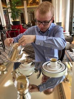 Master Tea Pourer, The Colonnades at Signet Library, Edinburgh, Scotland