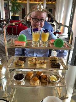 High Tea Sweets at the Colonnades at Signet Library, Edinburgh, Scotland