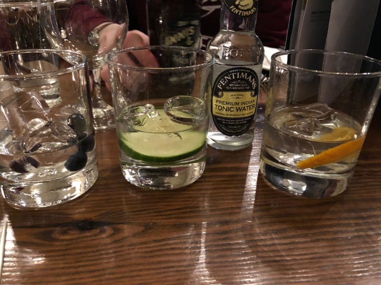 Gin Flight at Howe's, Victoria St., Edinburgh, Scotland