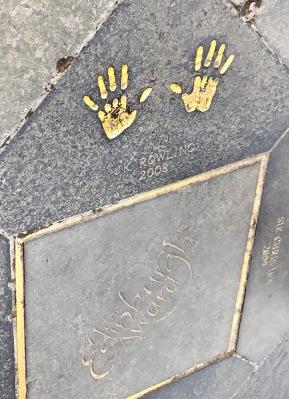 JK Rowling's Handprints for the Edinburgh Award, Royal Mile, Edinbrugh, Scotland