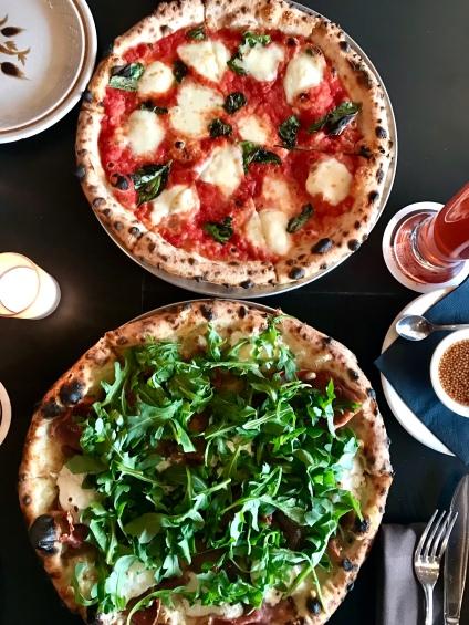 The Margherita & La Parisienne pizza